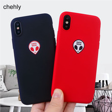 Fashion Alien Phone Case for iPhone X XR XS Max 8 7 6s Plus 11 Pro MAX Cases Solf Silicone Fitted Cell Accessories Covers