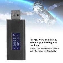 Auto USB GPS Signal Störungen Blocker Schild Privatsphäre ProtectionAnti Tracking Stalking Für Fahrzeuge Mit GPS Tragbare Schwarz