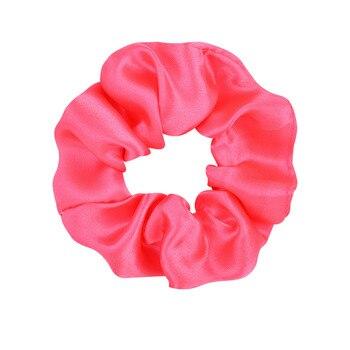 3.9 inch Women Silk Scrunchie Elastic Handmade Multicolor  Hair Band Ponytail Holder Headband Hair Accessories 7