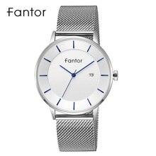 Fantor Luxury Brand Minimalist Classic Man Wrist Waterproof Date Slim Thin Quartz Watch for Men super speed v6 v0180 racer quartz movement wrist watch for man black brown white