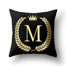 Pillowcase decorative pillow case sofa cushion cover luxury letter pillow peach skin cushion throw pillow cover couch pillows