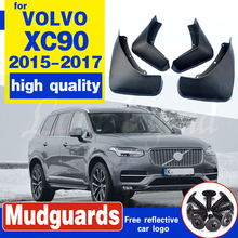 OEM Fitment Front Rear Molded Car Mud Flaps For VOLVO XC90 2015 2016 2017 Mudflaps Splash Guards Mud Flap Mudguards Fender molded car mud flaps for toyota corolla altis 2014 2015 2016 2017 mudflaps splash guards mud flap front rear mudguards fender