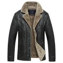 Puimentiua Mens leather jacket motorcycle windbreaker PU  warm solid color plus velvet 2019