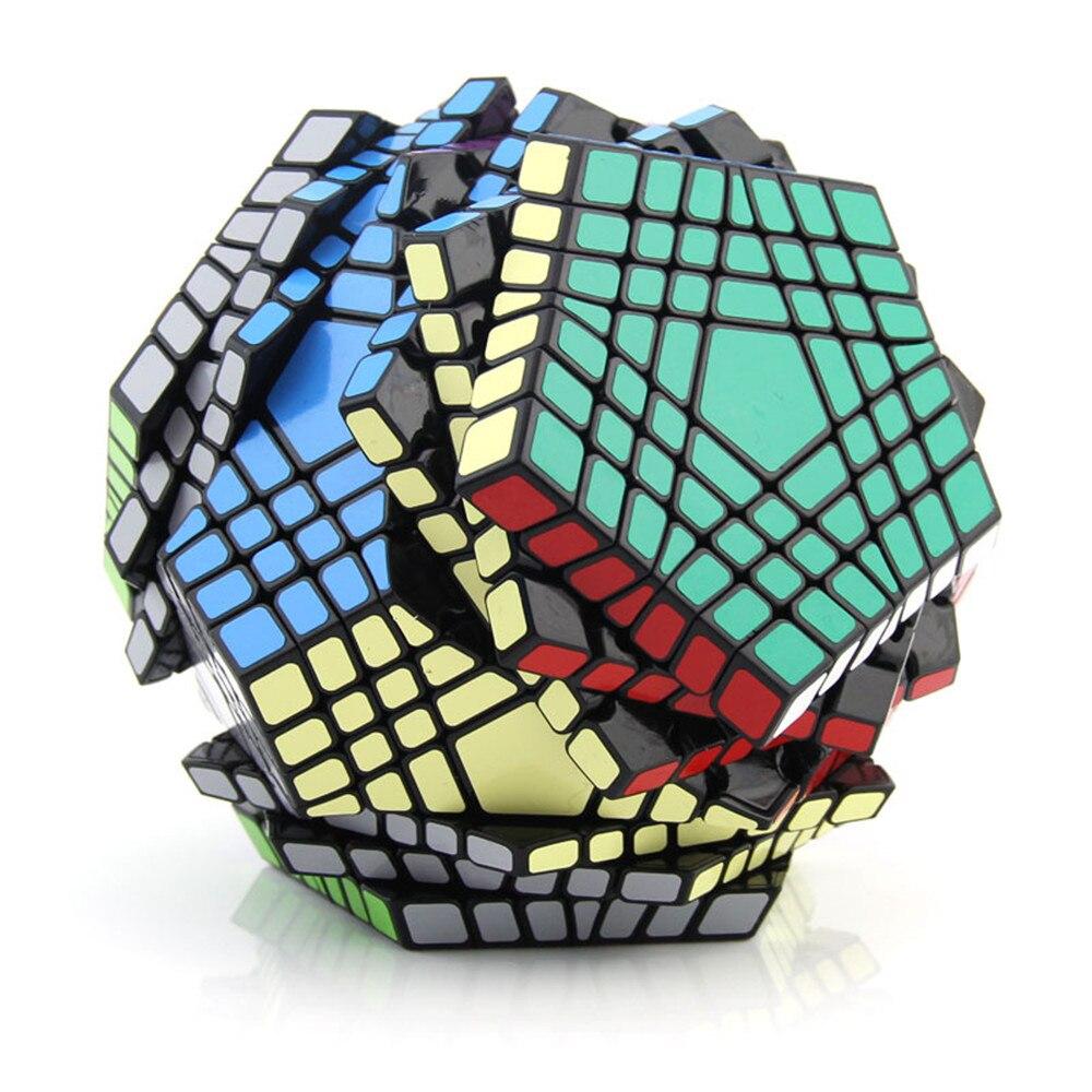 ShengShou 7x7x7 Megaminx professionnel éducatif Intelligence Cube magique Ultra-lisse vitesse Puzzle Cube 7x7 enfants jouets cadeau