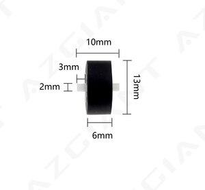 Image 1 - 1pc 13x6x2mm Karte Sitz Audio Gürtel Pulley Band Recorder Gürtel Pulley Rad mit achse für SONY player für Panasonic sa pm20