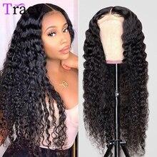 Бразильский парик с глубокой волной на сетке спереди, HD прозрачные парики из человеческих волос на сетке спереди для женщин, предварительно...