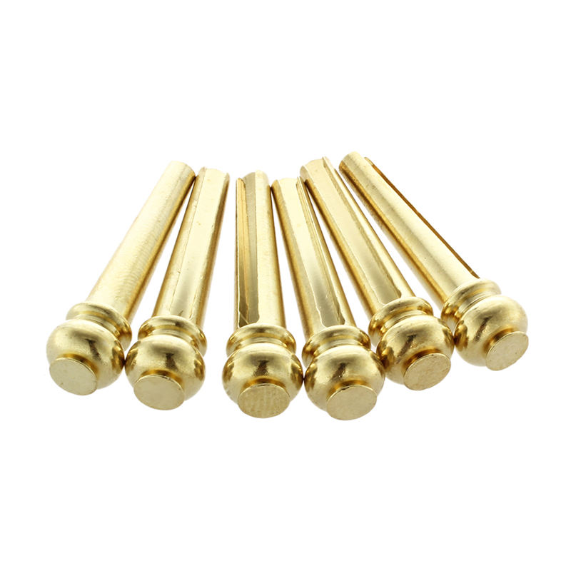 Metal Acoustic Guitar Bridge Pins 6pcs Brass Guitar Strings Fixed Cone String Pins String Nails