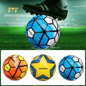 2020 klasyczny rozmiar 5 kolorów mieszania piłki nożnej PU piłki nożne szkolenia dorosłych sprzęt Kick prezent dla dzieci odkryty Sport piłki treningowe tanie i dobre opinie