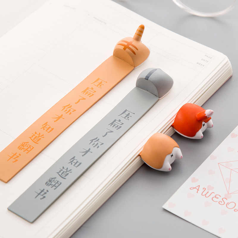 Mooie Cartoon Hond Kat Hamster Vos Ass Bladwijzers Nieuwigheid Boek Lezen Item Creative Gift For Kids Kinderen Briefpapier