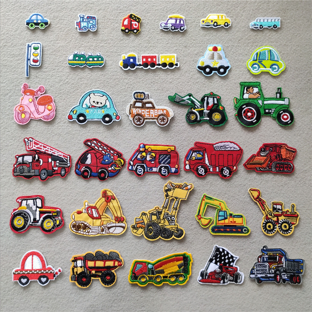 Embroidered Iron On Digger Patch Sew On Badge Boys Clothing Embroidery Applique
