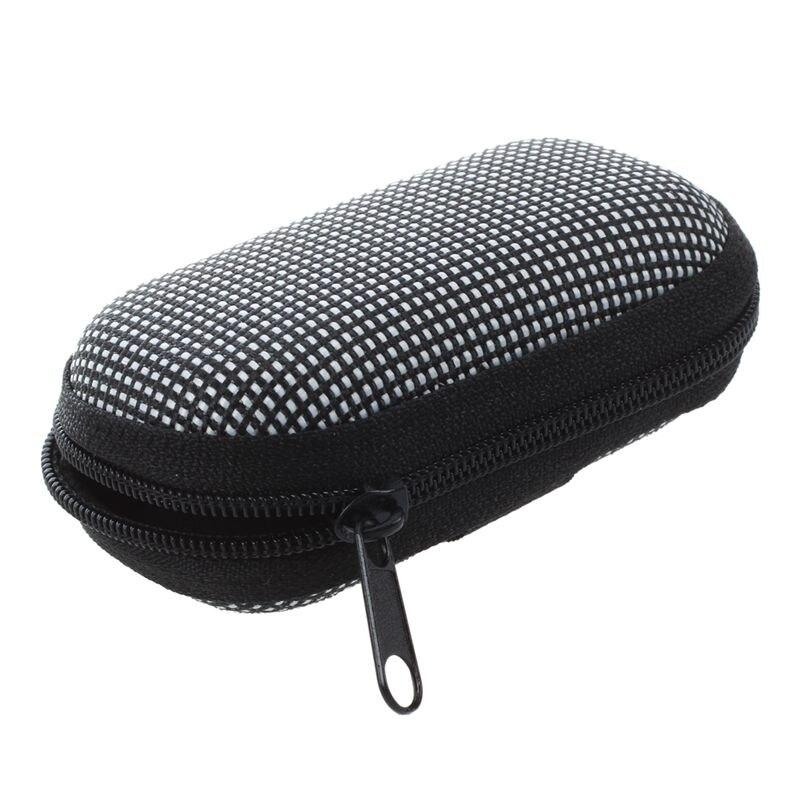 Black White Dotted Cover Case Holder For Folding Presbyopic Reading Glasses