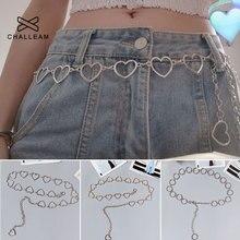Jeans Dress Chain Belts Fine-Waist-Pants Love-Heart-Belt Silver Women Simple Metal Street