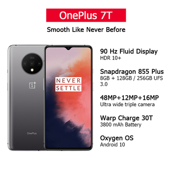 Global ROM OnePlus 7T 7 T 8GB 128GB Smartphone Snapdragon 855 Plus Octa Core 90Hz AMOLED Screen 48MP Triple Cameras NFC 2