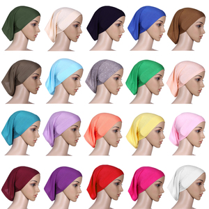Image 2 - Muslimische Frauen Baumwolle Weiche Unter Schal Innere Kappe Knochen Bonnet Hals Abdeckung Caps Wrap Headwear Islamischen Arabischen Nahen Osten Mode
