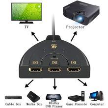 HDMI AUTO przełącznik 4K * 2K 3D Mini rozdzielacz HDMI 3 w 1 na zewnątrz Port koncentratora dla DVD HDTV Xbox PS3 PS4 1080P