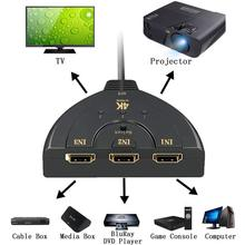HDMI אוטומטי מתג Switcher 4K * 2K 3D מיני HDMI ספליטר 3 ב 1 מתוך נמל Hub עבור DVD HDTV Xbox PS3 PS4 1080P