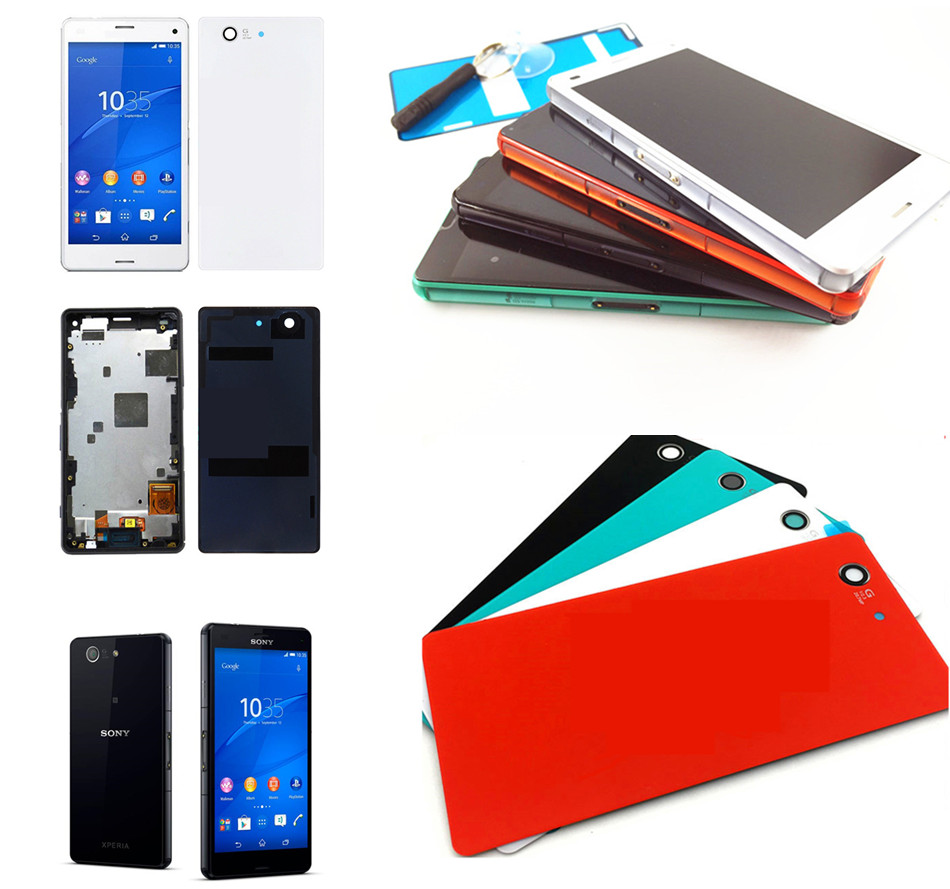 White/Black For Sony Xperia Z3 Compact LCD Display Z3 Mini LCD D5803 D5833 Touch Screen Digitizer Assembly , Free Shipping