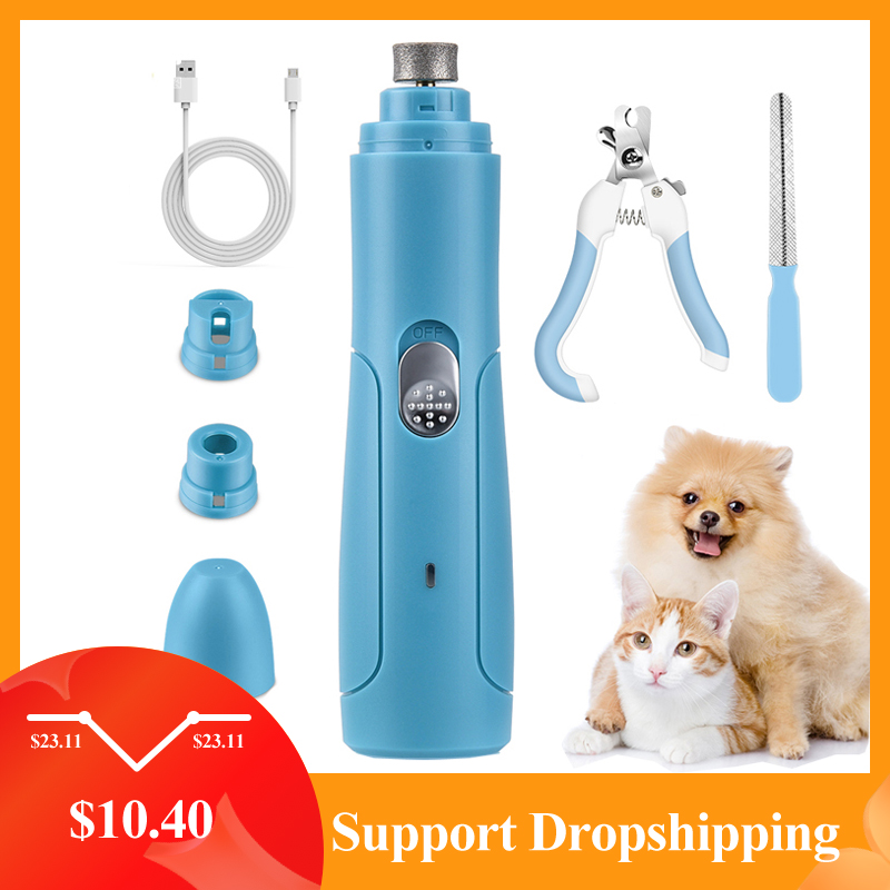 Pet-Nail-Grinder Scissors Grooming-Trimmer-Tools Electric Rechargeable File USB Painless