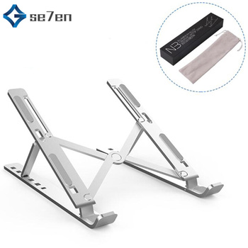 Portable 11-17 inch Laptop Stand Foldable Notebook Stand Holder For Macbook Lapdesk Aluminum Alloy Computer Cooling Bracket wiwu folding portable laptop stand 11 17 3 inch notebook universal stand for macbook aluminum adjustable cooling support laptops