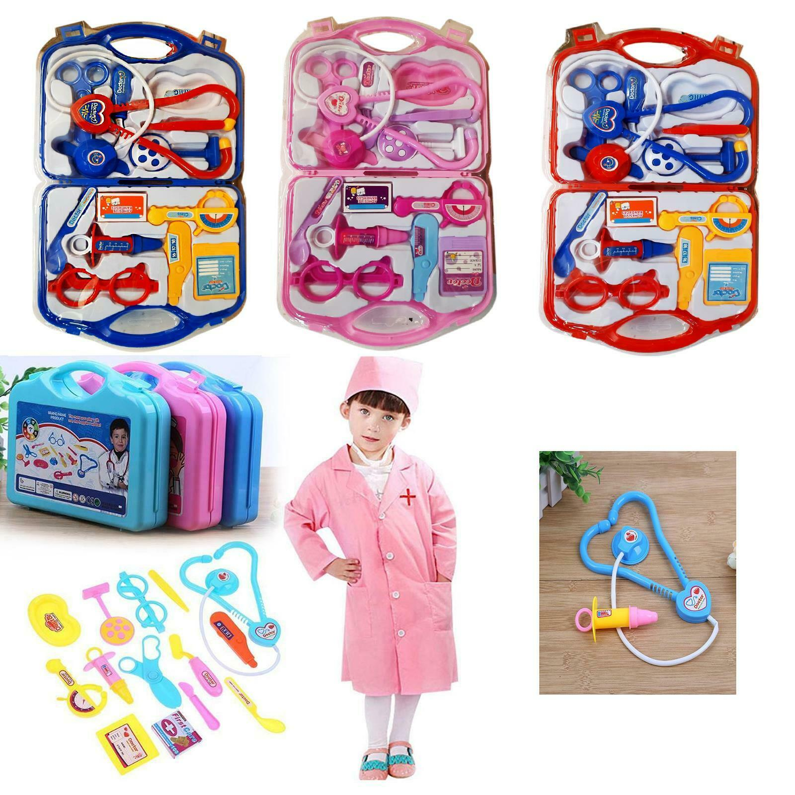 Simulation Accessories Toys Role Playing Family Party Game Doctor Costume Playset Activities for Boy Girl Christmas Birthday Gif