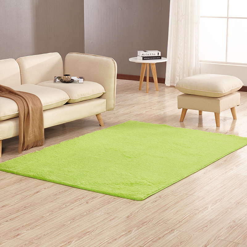 Short Shaggy Large Carpet Bedroom Living Room Rugs Green/pink/white Fluffy Yoga Mat Nordic Decoration Home Baby Crawling Pad|Carpet| |  - title=