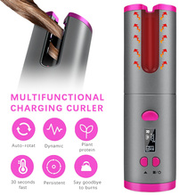 Cordless Automatic Hair Curler iron wireless Curling Iron US