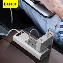 Baseus falownik samochodowy DC 12V do AC 110V 150W Auto Power Inversor z gniazdami USB typu C wtyczki przedłużające zasilacz akcesoria