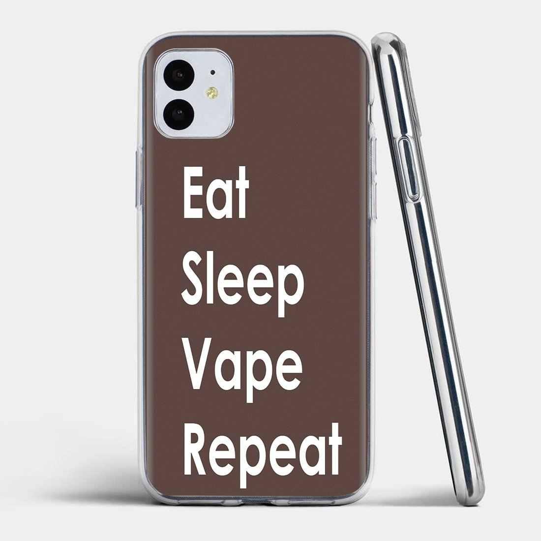 حافظة لينة الإسكان أكل النوم Vape Vaping Quotes لسامسونج غالاكسي A10 A30 A40 A50 A60 A70 S6 نشط نوت 10 زائد حافة M30