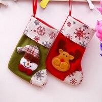 Christmas Gift Christmas Stocking Sock Santa Claus Xmas Tree Hanging Decor Christmas Stockings Candy Gift Bag.