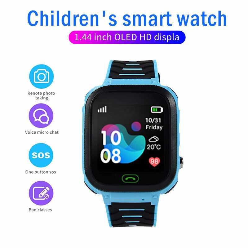 Y47 étanche enfants montre intelligente SOS antil-lost Smartwatch micro microphone lumière LED sur le bon appareil à distance annuaire téléphonique