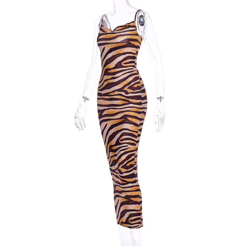 tiger midi dress08
