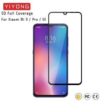 25Pcs/Lot YIYONG 5D Full Cover Glass For Xiaomi Mi 9 Mi9T Pro Tempered Glass Xiomi Mi9 SE Screen Protector Xiaomi Mi 8 9 10 Lite