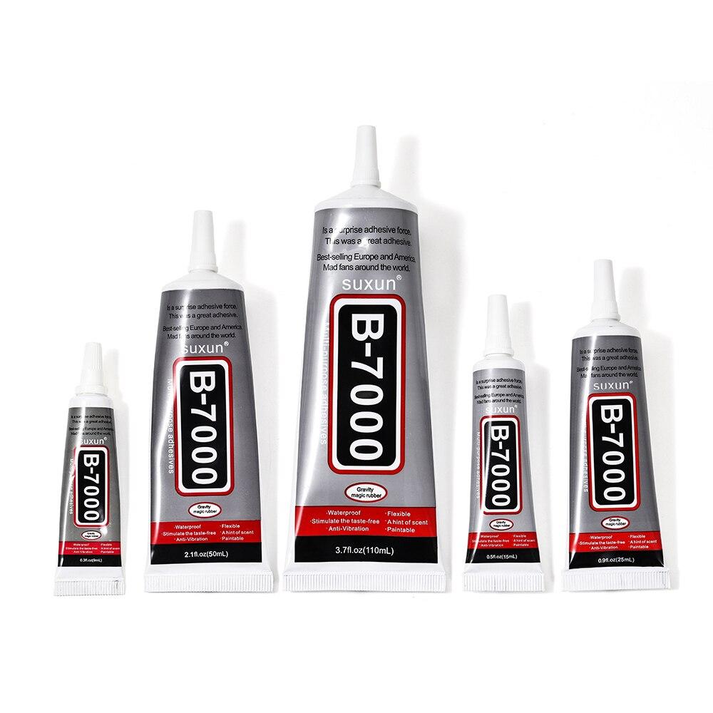 B7000 9ml ml 25 15ml Atrong Hotfix Cola Para Strass Agulhas Adesivo Epóxi para a jóia de Vidro Multi Adesivo De Reparo Por Atacado
