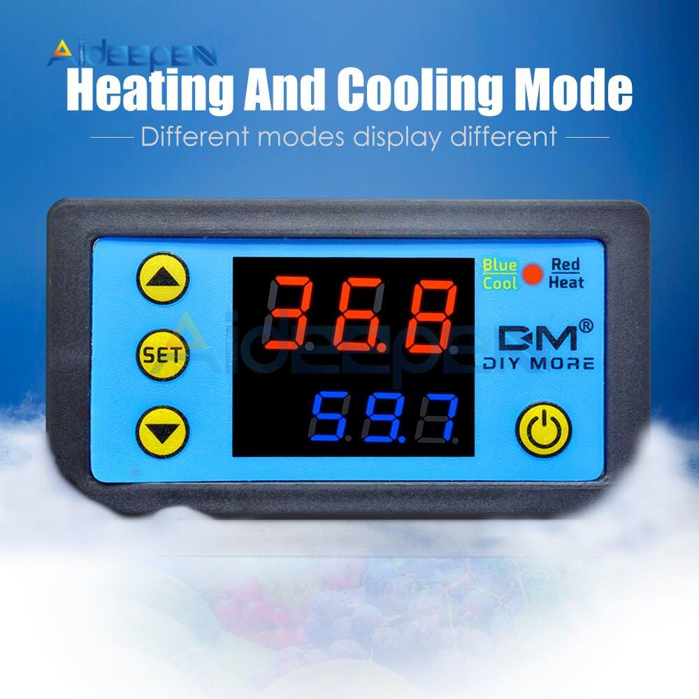 H361c985964c745c5abc6d527ef1a3514L W3230 AC 110V-220V DC12V 24V Digital Thermostat Temperature Controller Regulator Heating Cooling Control Instruments LED Display