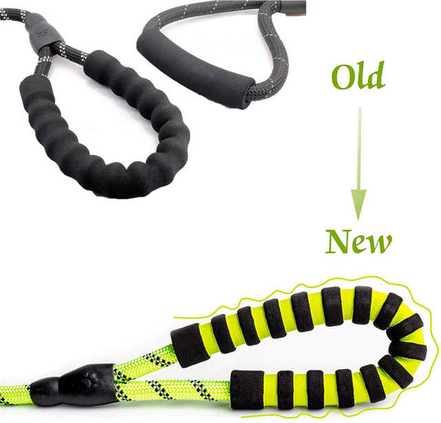 Benepaw Strong Medium Large Dog Leash Reflective Comfortable Padded Double Handles Non-slip Training Pet Leash Anti Tangle  My Pet World Store