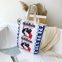 Bolsa de mensajero de lona Vintage para mujer, bolso de hombro de gran capacidad para estudiante y niña, bolsa de compras reutilizable, bolsos de mano
