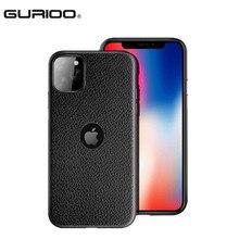 GURIOO тонкий кожаный зернистый чехол для Apple iPhone 6 6S 7 8 X Plus XS Max XR 4,7& 5,5 ''TPU с отверстием для телефона с логотипом