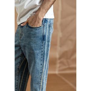 Image 5 - سيموود جينز رجالي جديد موضة ربيع 2020 بطول الكاحل نمط هيب هوب خلفي مخطط ملابس عصرية من الدنيم بمقاسات كبيرة 190384