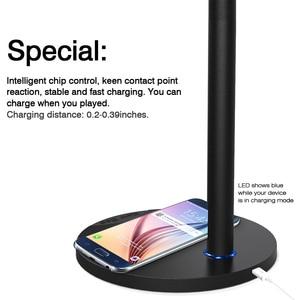 Image 4 - Besegad kulaklık kulaklık kulaklık askı tutucu standı raf w/ QI kablosuz şarj Mat Samsung S8 artı S7 S6 kenar not 5