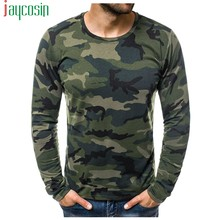 Camiseta masculina casual básico manga comprida retalhos camuflagem impressão moda magro t conforto plus size masculino esportes camisetas