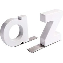 1Pair Heavy Duty Non-Skid Ceramic Letter Bookends Art Bookend Gift for Students and Teachers(China)