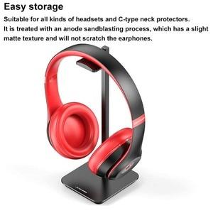 Image 4 - Uchwyt na słuchawki ze stopu aluminium przenośny metalowy zestaw słuchawkowy uchwyt stojak półka ekspozycyjna na akcesoria do słuchawek