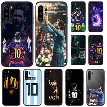 Sepak Bola Sepak Bola Lionel Messi untuk Huawei P 9 Smart 10 20 30 40 8 Lite Mini Z 2019 pro Hitam Shell Fashion Hoesjes(China)