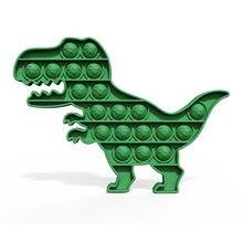 Динозавр Форма пуш ап поп пузырь сенсорная игрушка для аутистов