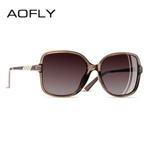 Image 1 - AOFLY Brand Design Sunglasses Women Oversized Square Frame Polarized Sun Glasses Female Luxury Ladies Eyewear zonnebril dames