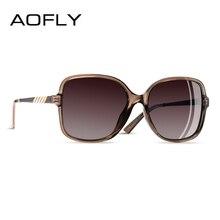 AOFLY lunettes de soleil Design de marque pour femmes, verres surdimensionnés, monture carrée polarisée, verres de luxe