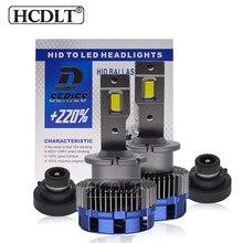 Hcdlt 2 pces d2s led farol do carro lâmpadas 70w 17200lm 6000k branco d2s d2r auto led farol plug and play ao lastro hid original