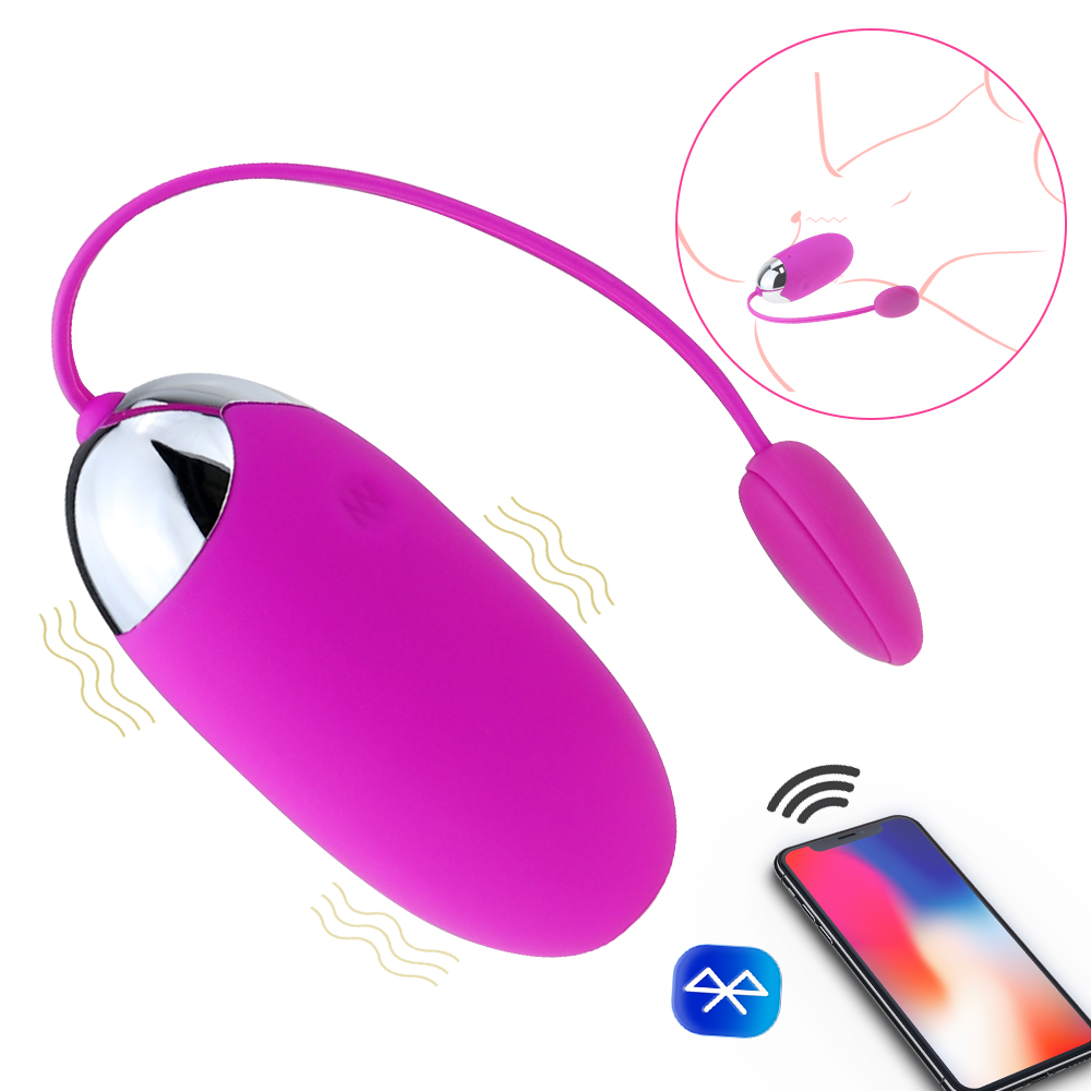 Bullet Vibrators with iOS Android APP Bluetooth Wireless Remote Control Vibrating <font><b>Egg</b></font> Vibrator Ball 12 Speeds <font><b>Sex</b></font> <font><b>toys</b></font> for women image