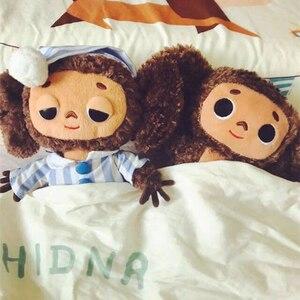 Русская большая ушастая обезьяна, плюшевые игрушки для детей, длинные плюшевые животные, куклы обезьяны для детей, подарок Decoratinon