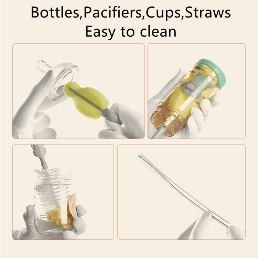 Przed naszą erą Babycare 6 sztuk/zestaw butelka dla dziecka gąbka szczotka do czyszczenia narzędzia niemowląt smoczek smoczek butelka do karmienia do czyszczenia szczoteczka do słomek zestaw